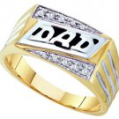 DIAMOND RING FATHERS DAY GIFT DAD 10k YELLOW GOLD .06 CARATS
