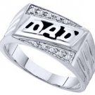 DIAMOND RING FATHERS DAY GIFT DAD 10k WHITE GOLD .06 CARATS