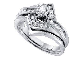 WOMENS DIAMOND PROMISE RING WEDDING BAND BRIDAL SET ROUND CUT .25 CARAT