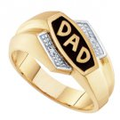 DIAMOND RING FATHERS DAY GIFT DAD 10k YELLOW GOLD