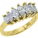 1.28 CARAT 7-STONE MARQUISE DIAMOND RING WEDDING BAND