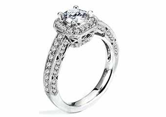WOMENS DIAMOND ENGAGEMENT HALO RING BRILLIANT ROUND 1.68 CARATS 18KT WHITE GOLD