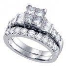 WOMENS DIAMOND ENGAGEMENT RING WEDDING BAND BRIDAL SET PRINCESS CUT INVISIBLE