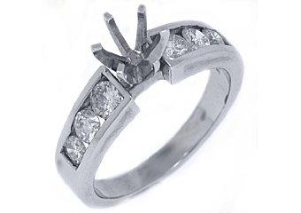 .80 CARAT WOMENS DIAMOND ENGAGEMENT RING SEMI-MOUNT ROUND CUT WHITE GOLD