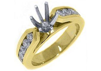 1.02 CARAT WOMENS DIAMOND ENGAGEMENT RING SEMI-MOUNT ROUND CUT YELLOW GOLD