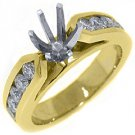 1.02 CARAT WOMENS DIAMOND ENGAGEMENT RING SEMI-MOUNT ROUND CUT YELLOW GOLD