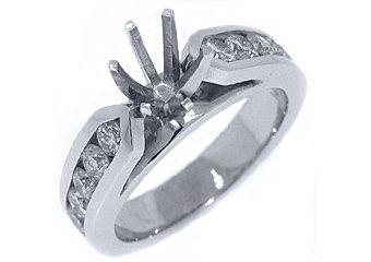 1.02 CARAT WOMENS DIAMOND ENGAGEMENT RING SEMI-MOUNT ROUND CUT WHITE GOLD