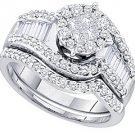 WOMENS DIAMOND ENGAGEMENT RING WEDDING BAND BRIDAL SET ROUND CUT 1.24 CARAT