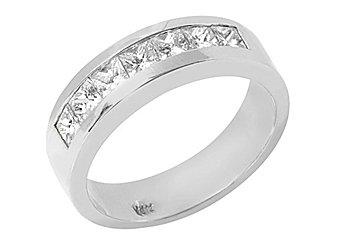1.26 CARAT WOMENS PRINCESS SQUARE CUT DIAMOND RING WEDDING BAND WHITE GOLD