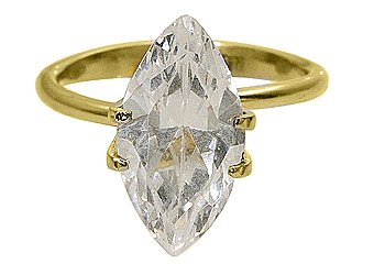 2 CARAT WOMENS SOLITAIRE MARQUISE SHAPE CUT DIAMOND ENGAGEMENT RING YELLOW GOLD