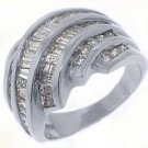 2.38CT WOMENS BRILLIANT ROUND BAGUETTE CUT DIAMOND RING WEDDING BAND WHITE GOLD