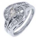 2 CARAT WOMENS DIAMOND ENGAGEMENT RING WEDDING BAND BRIDAL SET ROUND WHITE GOLD