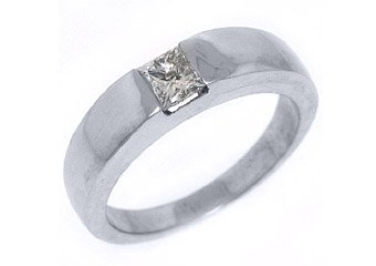 .45CT WOMENS SOLITAIRE PRINCESS SQUARE CUT DIAMOND ENGAGEMENT RING WHITE GOLD
