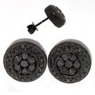 .70 CARAT BLACK DIAMOND STUD EARRINGS ROUND SHAPE 10KT GOLD