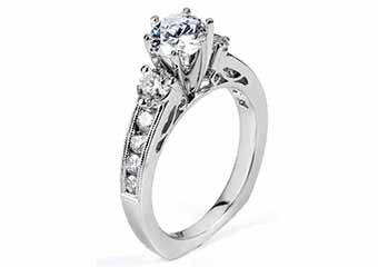 WOMENS DIAMOND ENGAGEMENT RING BRILLIANT ROUND 1.87 CARATS 18KT WHITE GOLD