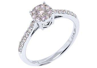 .50 CARAT WOMENS DIAMOND PROMISE RING BRILLIANT ROUND CUT WHITE GOLD