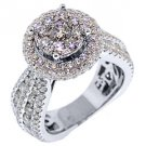 4.64 CARAT WOMENS DIAMOND ENGAGEMENT HALO RING BRILLIANT ROUND CUT WHITE GOLD