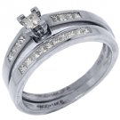 DIAMOND ENGAGEMENT RING BAND PROMISE WEDDING BRIDAL SET PRINCESS CUT