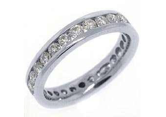 WOMENS DIAMOND RING ETERNITY BAND 1.81 CARAT BRILLIANT ROUND CUT 950 PLATINUM