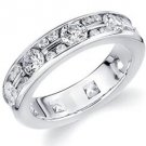 DIAMOND ETERNITY BAND WEDDING RING ALTERNATING ROUND CUT WHITE GOLD 1.50 CARATS