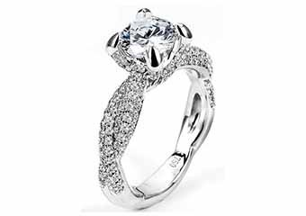 WOMENS DIAMOND ENGAGEMENT RING BRILLIANT ROUND CUT 1.80 CARATS 18KT WHITE GOLD
