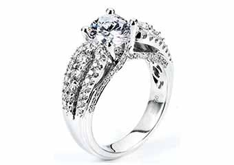 WOMENS DIAMOND ENGAGEMENT WEDDING RING ROUND CUT 1.92 CARATS 18KT WHITE GOLD