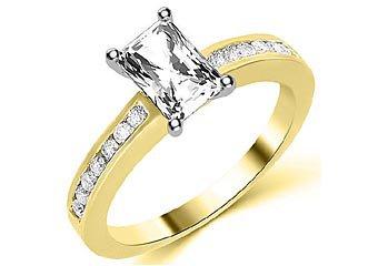 1.3 CARAT WOMENS DIAMOND ENGAGEMENT WEDDING RING RADIANT CUT SHAPE YELLOW GOLD