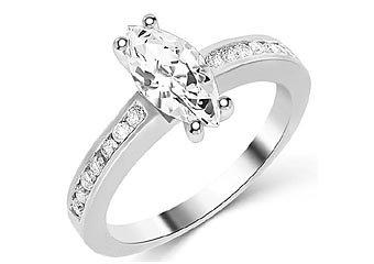 1.3 CARAT WOMENS DIAMOND ENGAGEMENT WEDDING RING MARQUISE CUT SHAPE WHITE GOLD