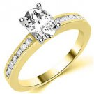 1.3 CARAT WOMENS DIAMOND ENGAGEMENT WEDDING RING OVAL SHAPE YELLOW GOLD