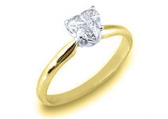 .57 CARAT WOMENS SOLITAIRE HEART SHAPE CUT DIAMOND ENGAGEMENT RING YELLOW GOLD