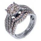 2 CARAT DIAMOND ENGAGEMENT RING WEDDING BAND BRIDAL SET ROUND WHITE GOLD