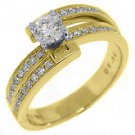 .69 CARAT WOMENS DIAMOND ENGAGEMENT WEDDING RING BRILLIANT ROUND CUT YELLOW GOLD