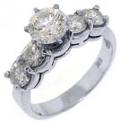 2.2 CARAT WOMENS DIAMOND ENGAGEMENT WEDDING RING BRILLIANT ROUND CUT WHITE GOLD
