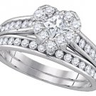 WOMENS DIAMOND ENGAGEMENT RING WEDDING BAND BRIDAL SET HEART SHAPE