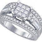 1.01 CARAT WOMENS DIAMOND ENGAGEMENT RING BRILLIANT ROUND 14K WHITE GOLD
