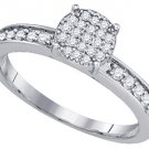 .26 CARAT WOMENS DIAMOND ENGAGEMENT RING BRILLIANT ROUND 10K WHITE GOLD