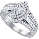 .80 CARAT WOMENS DIAMOND ENGAGEMENT RING MARQUISE CUT SHAPE WHITE GOLD