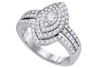 1.03 CARAT WOMENS DIAMOND ENGAGEMENT RING MARQUISE CUT SHAPE WHITE GOLD