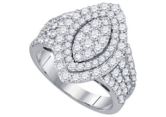 1.82 CARAT WOMENS DIAMOND ENGAGEMENT RING MARQUISE CUT SHAPE WHITE GOLD