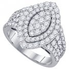 1.82 CARAT WOMENS DIAMOND ENGAGEMENT RING MARQUISE CUT SHAPE WHITE GOLD