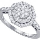 .62 CARAT WOMENS DIAMOND ENGAGEMENT RING OCTAGON SHAPE WHITE GOLD