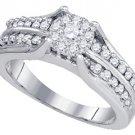 .68 CARAT WOMENS DIAMOND ENGAGEMENT RING BRILLIANT ROUND CUT WHITE GOLD
