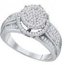 .40 CARAT WOMENS DIAMOND ENGAGEMENT HALO RING BRILLIANT ROUND CUT WHITE GOLD