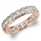 DIAMOND ETERNITY BAND WEDDING RING ROUND 14KT ROSE GOLD 2.00 CARAT BOX SETTING
