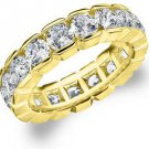 DIAMOND ETERNITY BAND WEDDING RING ROUND 14KT YELLOW GOLD 4.00 CARAT BOX SETTING