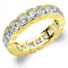 DIAMOND ETERNITY BAND WEDDING RING ROUND 14KT YELLOW GOLD 3.00 CARAT BOX SETTING