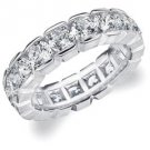 DIAMOND ETERNITY BAND WEDDING RING ROUND 14KT WHITE GOLD 4.00 CARAT BOX SETTING