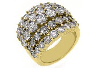 6 CARAT WOMENS BRILLIANT ROUND CUT DIAMOND RING WEDDING BAND YELLOW GOLD