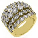 6 CARAT WOMENS BRILLIANT ROUND CUT DIAMOND RING WEDDING BAND YELLOW GOLD