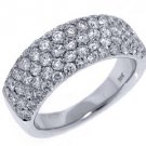1.87 CARAT WOMENS BRILLIANT ROUND CUT DIAMOND RING WEDDING BAND WHITE GOLD
